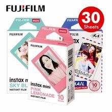 Genuino Fuji Fujifilm Instax Monocromo/Macarrones/Cielo Azul Película 30 unids para Mini 8 70 Plus 90 25 Cámara lomo SP-1 SP-2