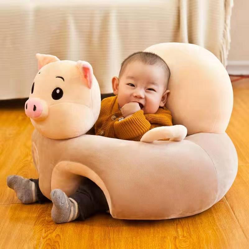 Dessin animé Animal bébé sièges canapé soutien siège bébé en peluche soutien chaise apprendre à s'asseoir doux en peluche jouets voyage siège de voiture pour bébé