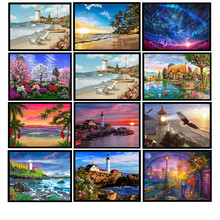 New 5D DIY diamond painting beautiful scenery embroidery cross stitch round mosaic home decoration