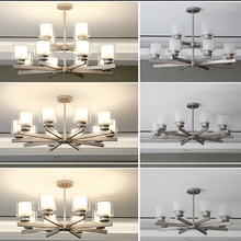 цены Nordic Modern LED Iron Pendant Light Crystal E27 Pendant Lamp Bedroom Living Room Hotel Lobby Restaurant Coffee Lighting Fixture