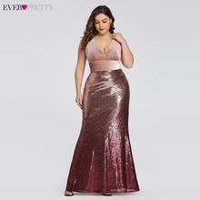 Plus Kích Thước Váy Đầm Dạ Dài Bao Giờ Xinh Xắn Gợi Cảm Cổ Chữ V Đính Hạt Cườm Burgundy Đen Phối Hồng Vintage Nàng Tiên Cá Đảng Đồ Bầu