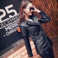 ,2018 fashion 100% Genuine leather women slim jacketsOL Asian plus size female casual sheepskin jacket Brand