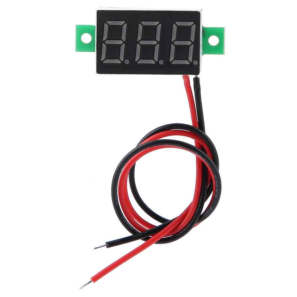 Digital Voltmeter 0.56inch Two Wire DC 2.5-30V Digital LED Display Voltage Meter