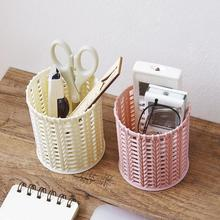 Round Hollowed Design Pencil Pen Holder Container Office Home Desktop Organizer pen holder