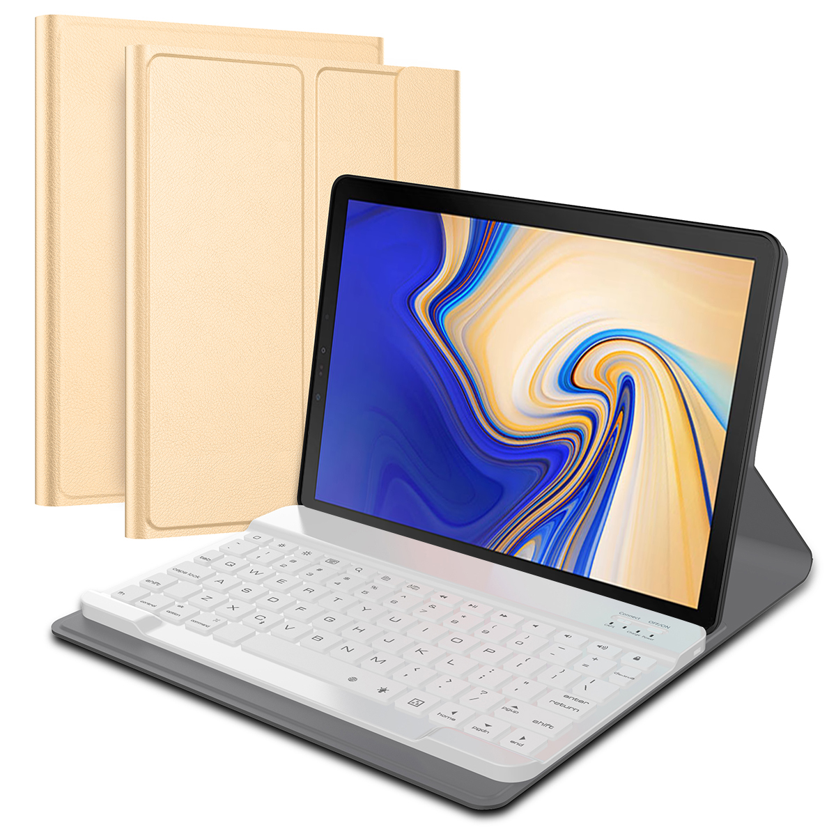 For Samsung Galaxy Tab S4 10.5 SM T830 T835 Case Detachable Wireless Bluetooth USA Keyboard Stand PU Leather Tablet Cover