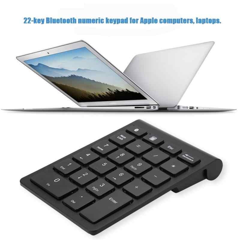 Черная клавиатура 22 клавиши мини-цифра Беспроводная Bluetooth цифровая клавиатура для Apple Компьютерные клавиатуры 2018 новый стиль