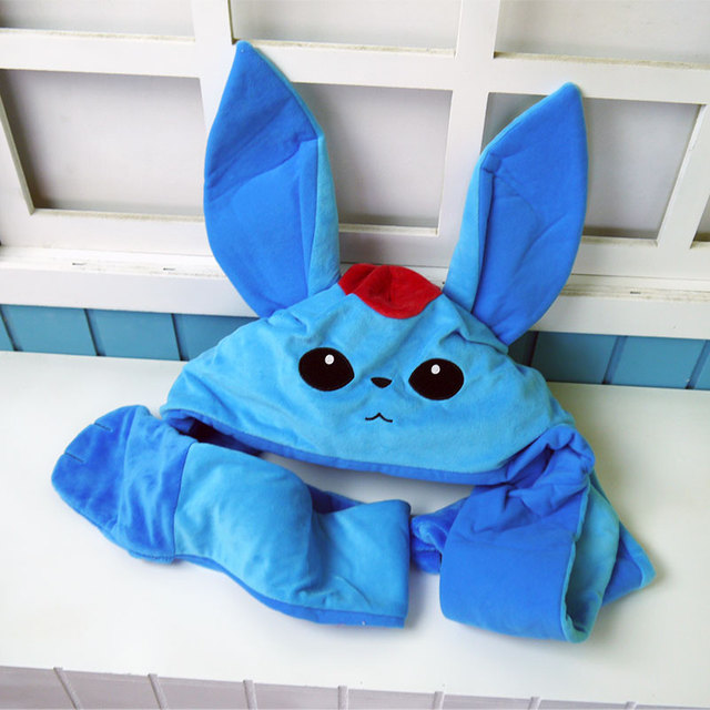 US $26 8 |Final Fantasy plush toy game FF14 blue Carbuncle figure plush hat  cosplay toy soft keep warm cap for girl gift free shipping-in Movies & TV