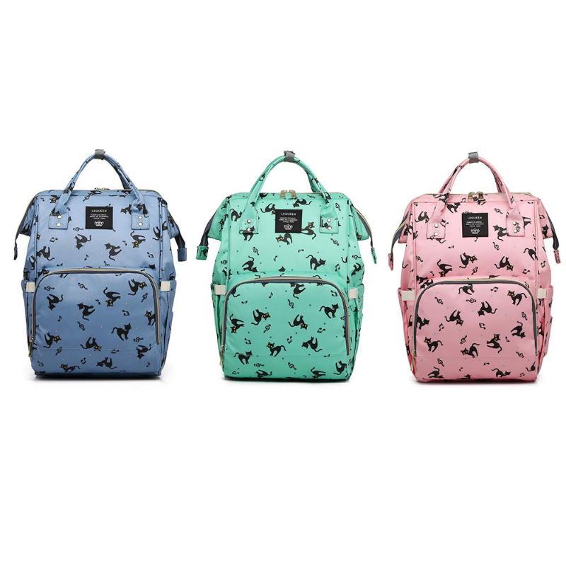 Cartoon Print Travel Mommy Diaper Bags Large Capacity Backpack Maternity Nappy Nursing Bag Travel Backpack Designer Nursing Bag