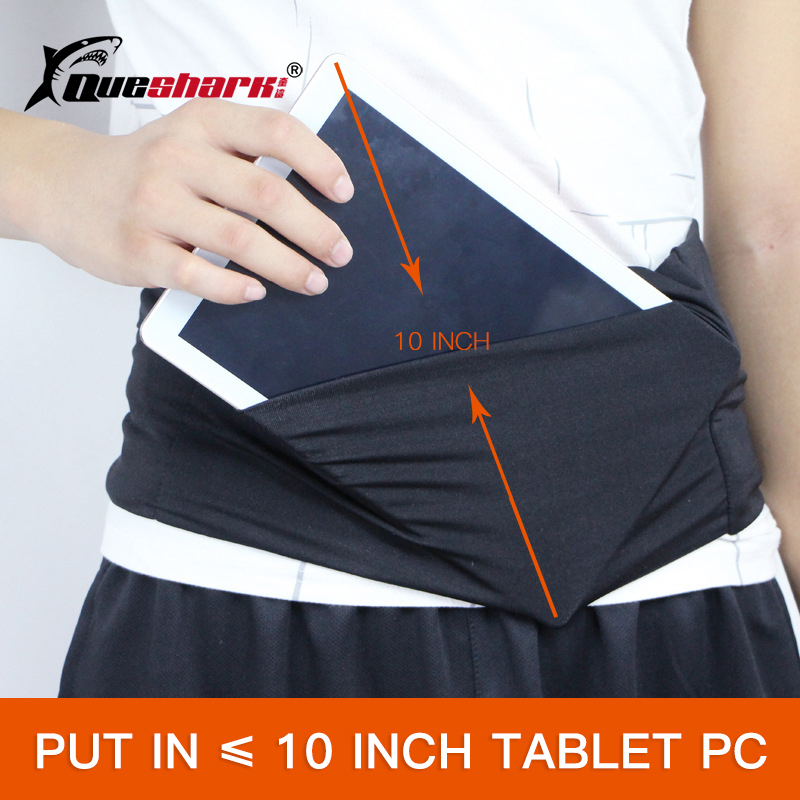 Large 3 Pockets Invisible Running Waist Bag Mobile Phone Holder Jogging Belt Belly Bag Gym Fitness Bag For IPad Sport Accessory