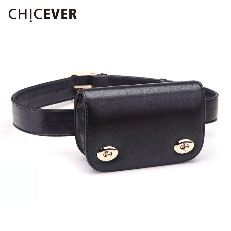 CHICEVER 2020 New Fashion Korean Waist Belt For Women With Bag Vintage Black Laides Women's Belts Bag New