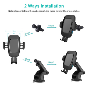 Image 5 - Bakeey 10W Automatic Sensor Car Qi Wireless Charging pad universal Charger phone Car holder Mount for Samsung for iPhone Xiaomi1