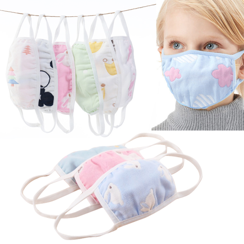 Anti Dust 1PC Non-fluorescent Cotton Mouth Muffle Cartoon Face Mask High Quality Cute Kawaii Mask Mouth Mask Popular Random