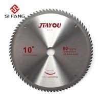 80Teeth 10Inch 25.4MM Arbor General Purpose Carbide Circular Saw Blade Disc Cutting Blade For Cutting Wood and Aluminum Metal