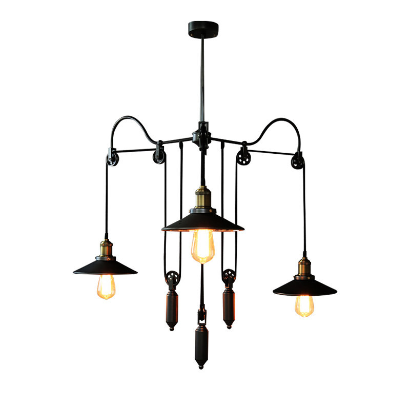 Smuxi 3 Way Mirror Pendant Lamp Shade E27 Retro Vintage Pendant Light Pulley Retractable Pendant Lights Loft Hanging 110V-220V цена 2017
