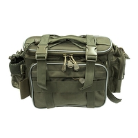 SEWS Canvas Fishing Bag Men Multi Function Waist Shoulder Fishing Tackle Bag Reel Lure Storage Bag Case Carp Fishing Gear 35 x