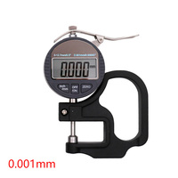0 12.7mm Handheld LCD Screen For Paper 0.01/0.001mm Leather Meter Electronic Digital Film Measuring Tool Thickness Gauge Jewelry