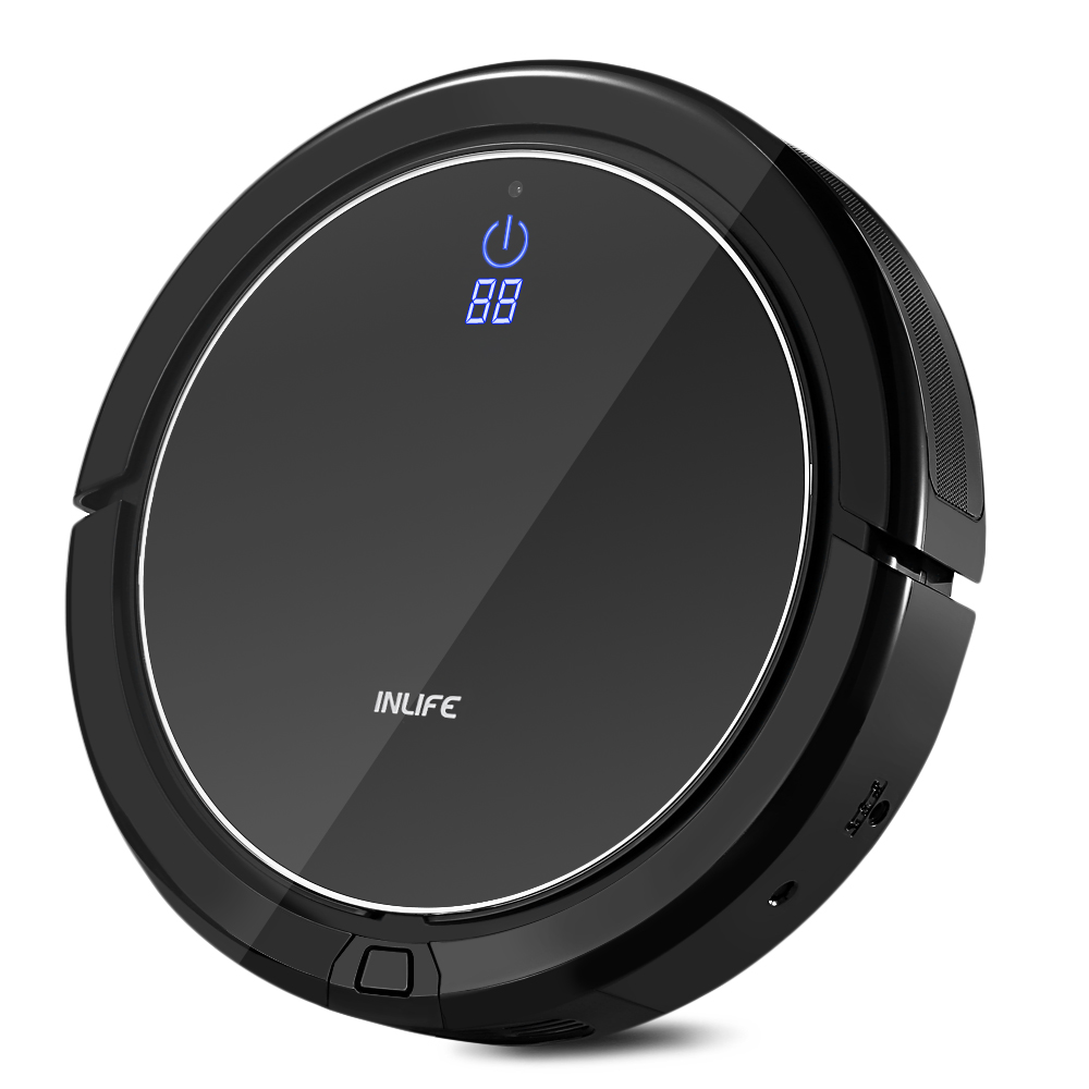 Inlife I7 Intelligent Robotic Vacuum Cleaner With Strong Suction Automatic Charging Remote Control Dust Sterilize Cleaner multifunctional intelligent robotic vacuum cleaner for home big suction nozzle remote control planned cleaning route fr e