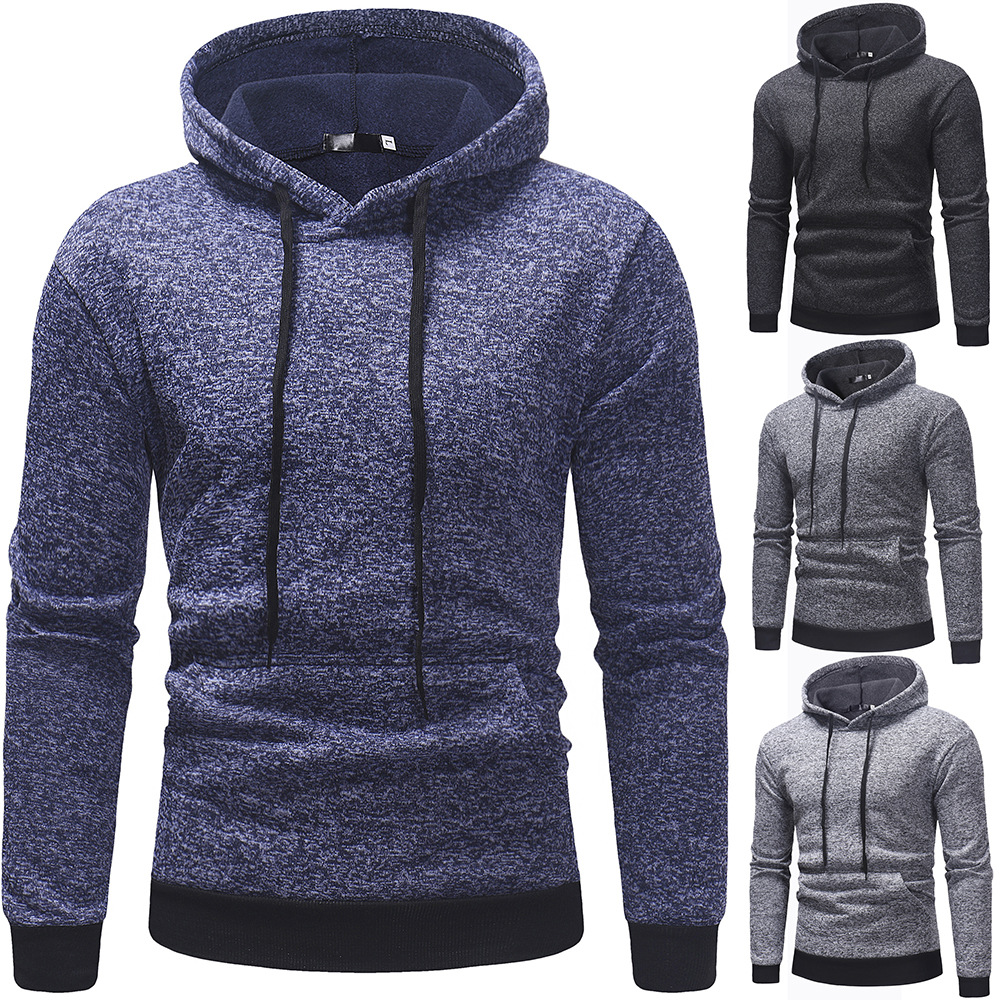 Autumn Winter Fashion Mens Hooded Long Sleeve Casual Sweater Pure Color Pullover Hoodies Hoodie Sweatshirt Hoody Style 4 Colors