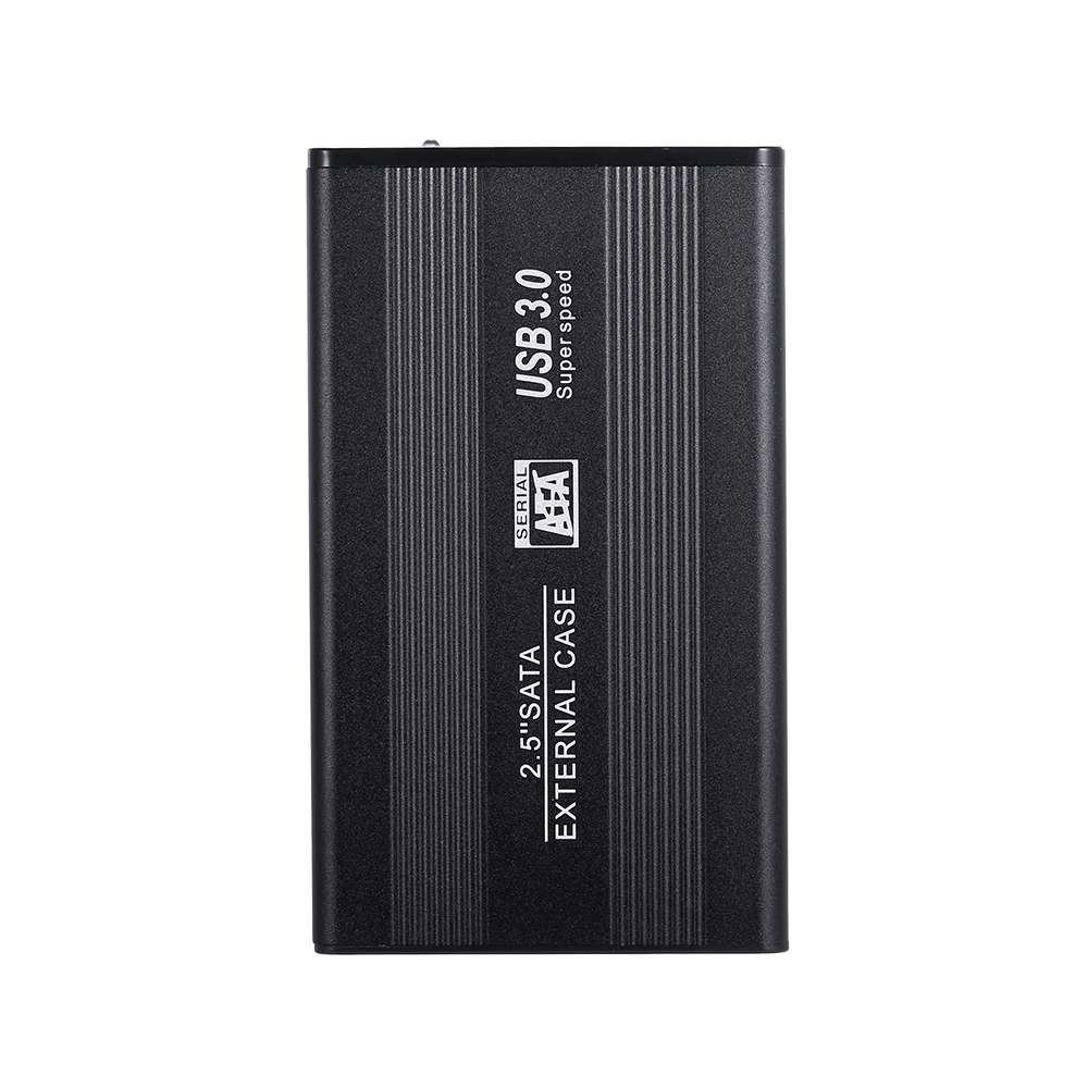 2.5 Inch HDD Case SATA HDD To USB3.0 Converter Adapter External Case 3TB Hard Disk Drive Box External HDD Enclosure (Black)