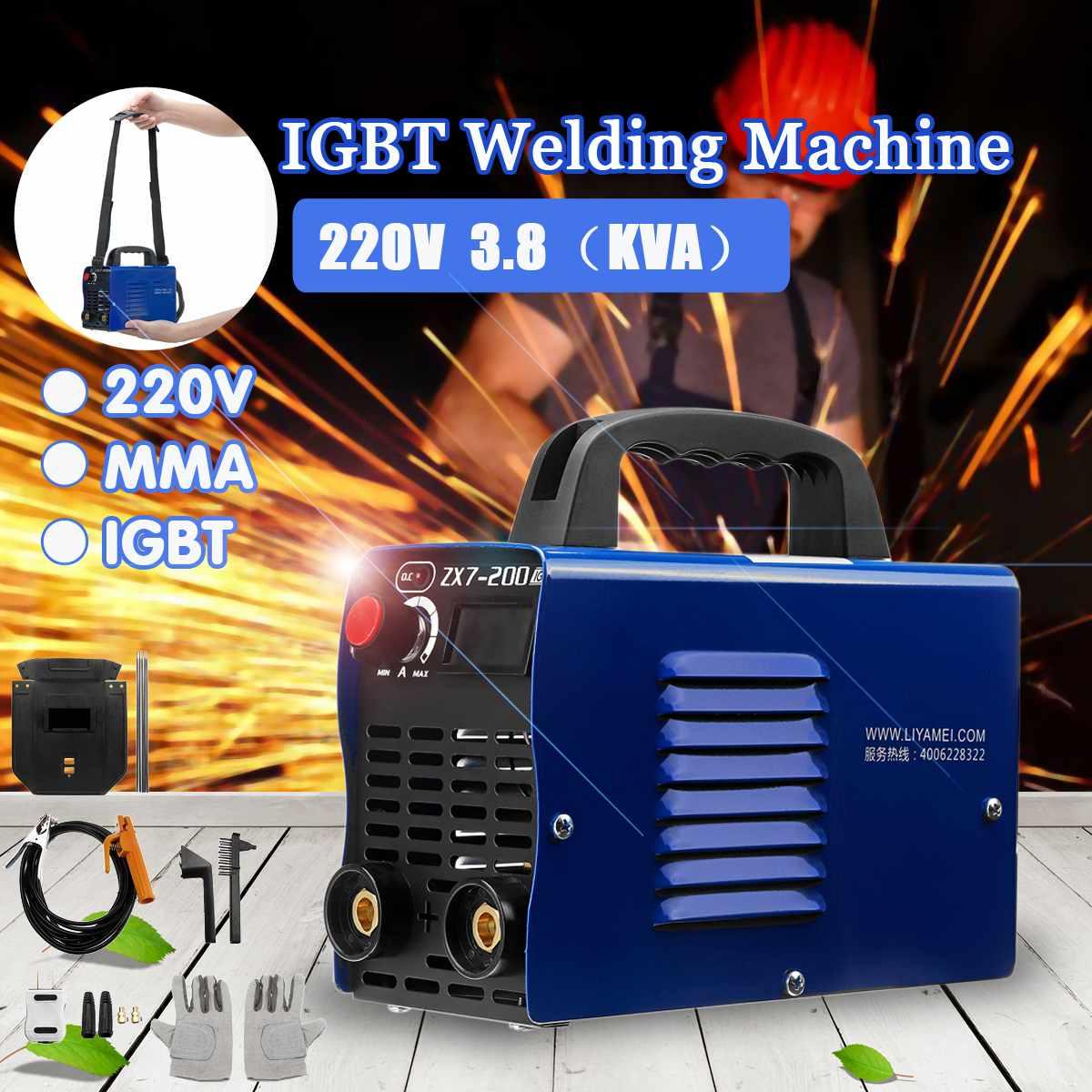 ZX7 200 4 кВт 220 В 20 200A ММА IGBT DC инвертор ручной Электрический сварочный аппарат дуговой сварки сварщиков инвертор машина инструмент