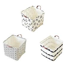 Foldable Storage Basket Cotton And Linen Dirty Clothes Package Toys Debris Snacks Organizer Bucket