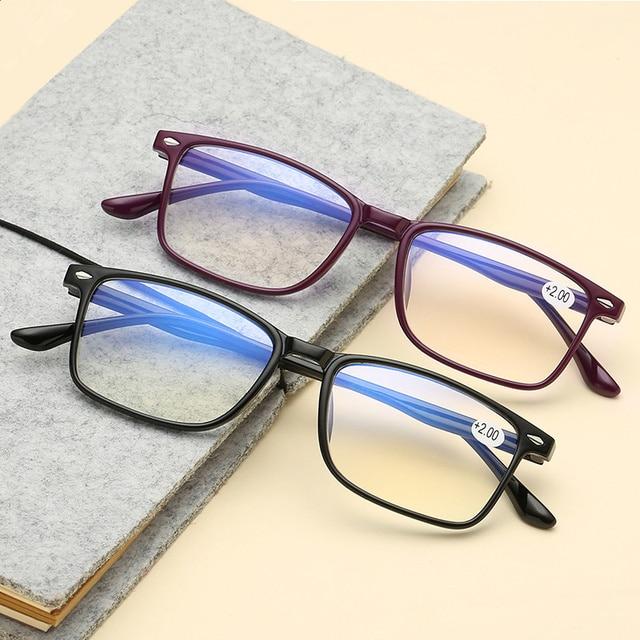 Oulylan Retro TR90 Reading Glasses Men Women Blue Light Blocking Prescription Eyeglasses Diopter +1.0+1.5 2.0 2.5 3.0