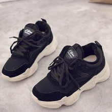 Winter Sneakers for Women Female Warm Fur Plush Dad Shoes Casual Woman Ladies Trainers 2019 Platform Chunky
