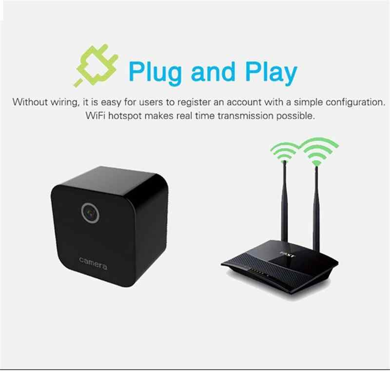 Car Wifi Mini IP Camera Auto Smart Socket Adapter Security Video Audio Micro Camcorder 1080P Camera Night Vision