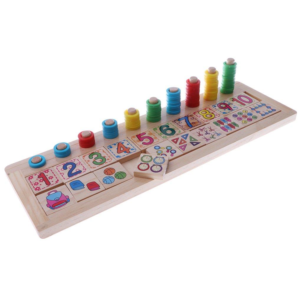 Drewniane pączki bloki numer dopasowanie liczenia gra logiczna wczesna nauka matematyka zabawki edukacyjne prezent dla dzieci dzieci