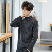 2018 New Pattern Chenille High Lead Sweater dress cardigan men Man winter Casual Long Sleeve Elegant Pullovers Solid