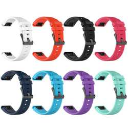 Силиконовые 22 мм часы ремешок браслет ремешок для Fenix5 Forerunner935 сапфир