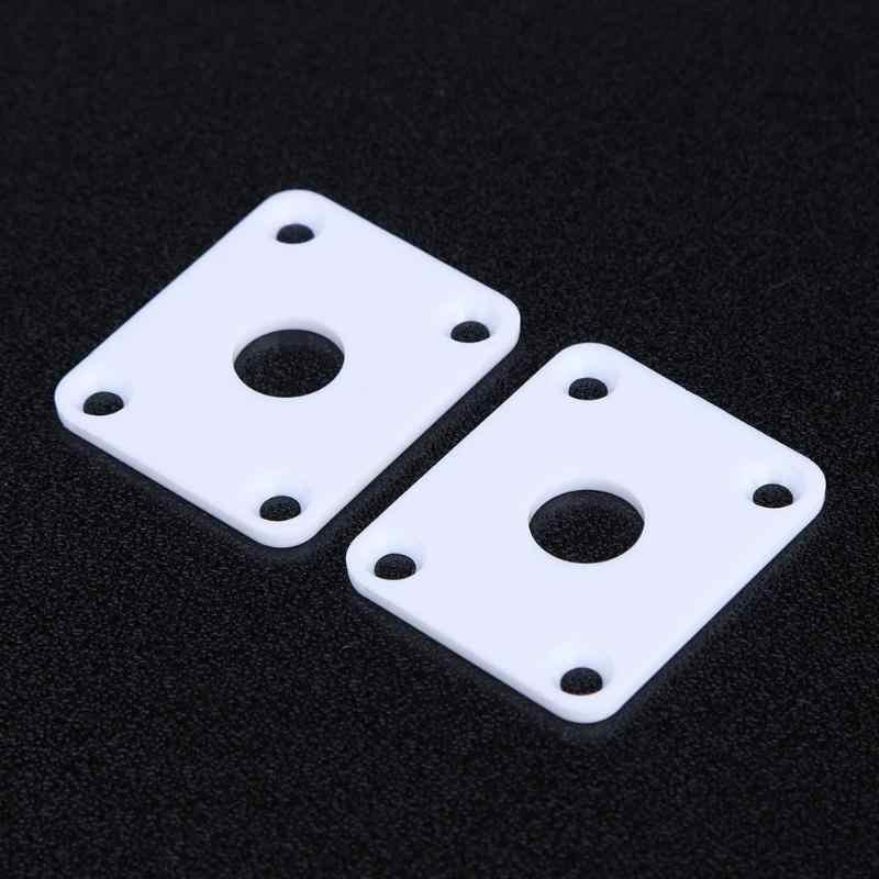 34x29x2 مللي متر 2 قطعة الغيتار الناتج مقبس متفرع البلاستيك أطباق مربعة الشكل ل LP الغيتار باس الأصفر/الأبيض /أسود متاح