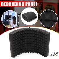 Foldable Microphone Acoustic Isolation Shield Alloy Acoustic Foams Panel Professional Studio Recording Microphone Accessories