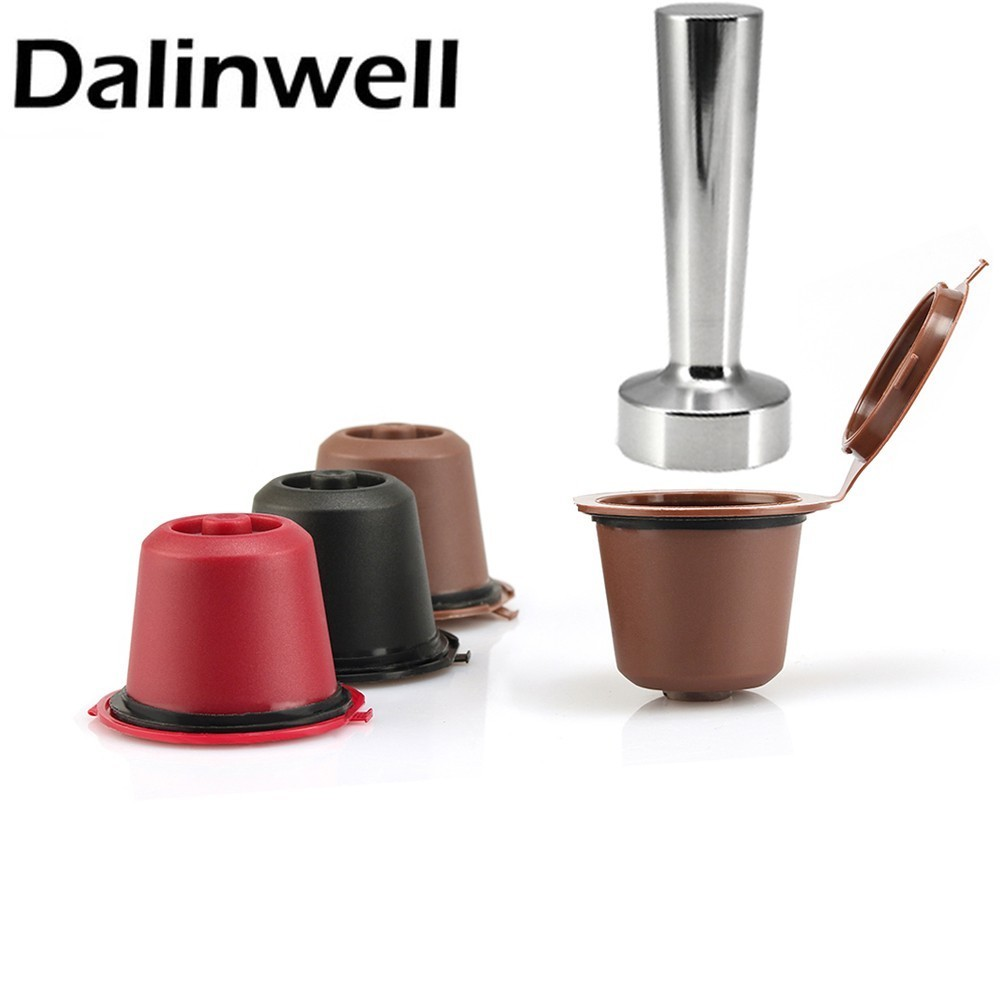 3 Coffee Filters 1 Tamper Reusable Nespresso Capsule Refillable Coffee Capsula For Nespresso Machine Nespresso Pods With Tamper
