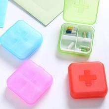4 сетчатый Карманный чехол для таблеток, мини-футляр для хранения лекарств, диспенсер, держатель для капсул, открытый контейнер для первой медицинской помощи