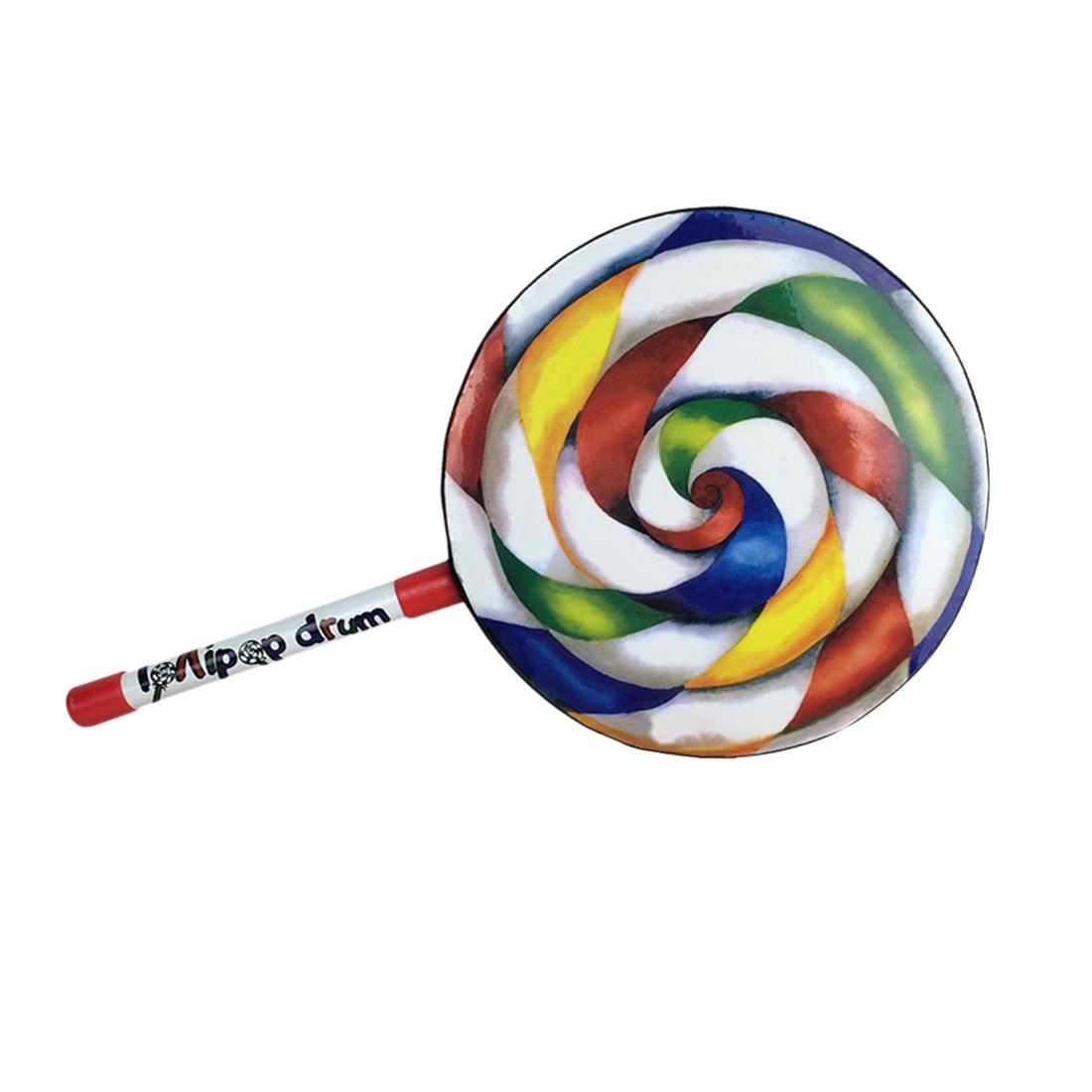6 8 10 pulgadas Carl para percusión Lollipop tambor instrumentos musicales accesorios para niños aprendizaje ejerciendo música Bluetooth