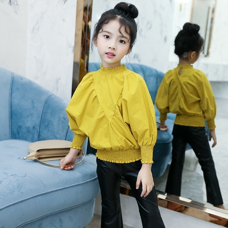 Teenage Cotton Yellow White Red Blouse For Girls Batwing ...
