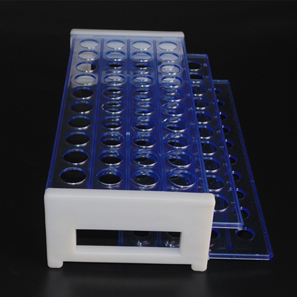Plastic Test Tube Rack  diameter 18mm Tubes, Hole 40, Detachable