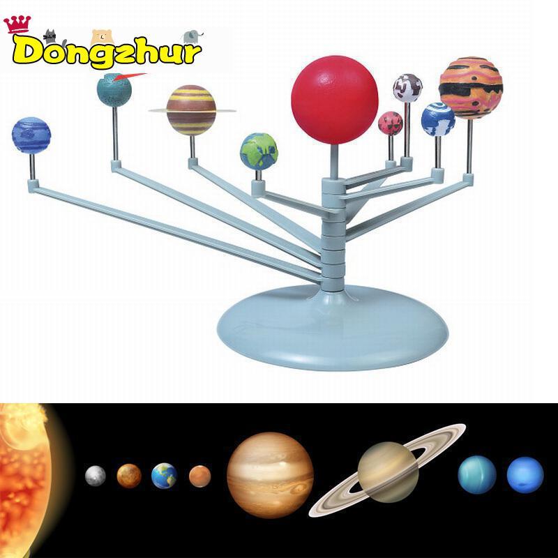 Dongzhur Children Educational Diy Explore Nine Planets In Solar System Planetarium Painting Science Fair Project Teaching Toys