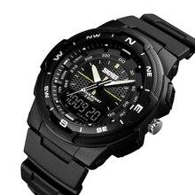 SKMEI Men's Sports Watch Led Digital 50M Waterproof Casual Dual Time Display Wat