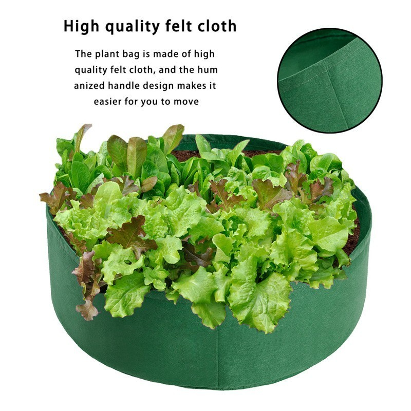Vegetable Plant Grow Bag Raised Garden Bed Round Planting