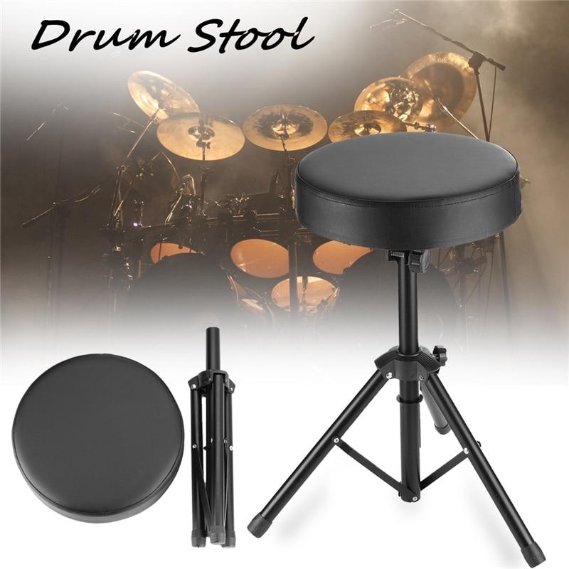 Siège réglable de tambour trône batteurs tabouret Stand chaise tabouret pliant Rock-Band siège de chaise de Piano avec tabouret rembourré confortable