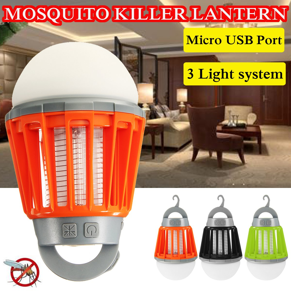 USB Charging Mosquito Killer Lamp Mosquito Zapper Lantern Camping Light Multi-Purpose Pest Repeller Waterproof Bug KillerUSB Charging Mosquito Killer Lamp Mosquito Zapper Lantern Camping Light Multi-Purpose Pest Repeller Waterproof Bug Killer