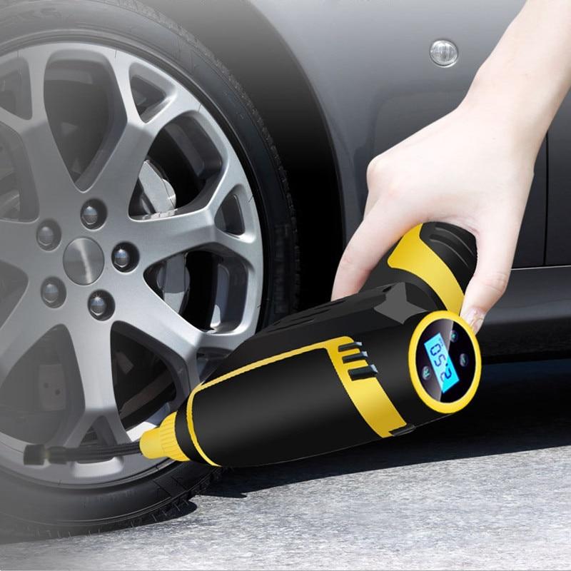 Pompe à air électrique compresseur d'air sans fil Portable gonfleur de pneu pompe à main gonflage automatique pour voiture moto vélo