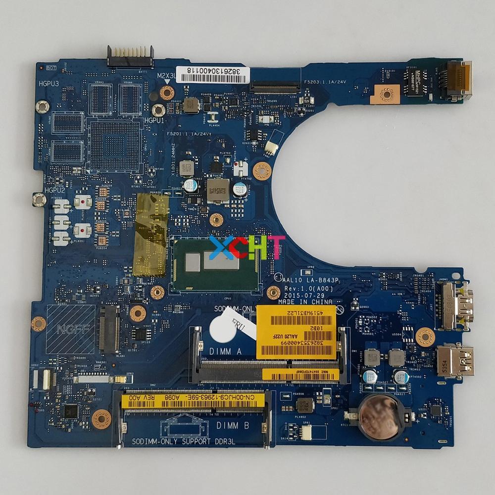 CN 00HJC9 0HJC9 00HJC9 AAL10 LA B843P W I5 4210U CPU For Dell Inspiron 15 5458 5558 5758 Notebook Laptop Motherboard Mainboard