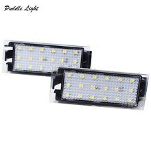 2x 18Smd White Error Free LED Number 12V For MERCEDES-Benz 453 415 Smart License Plate Light Lamp For Renault Clio Laguna Master цена в Москве и Питере