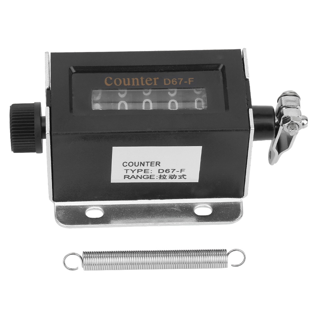 Bereidwillig 5 Digit Mechanische Zelfherstelbare Manual Hand Pull Stroke Telapparaat D67f Mechanische Klik Counter