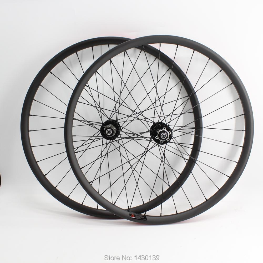Nouveau 27.5 pouces VTT jante mat carbone complet roues frein à disque carbone vélo roues 27.5er vtt vélo livraison gratuite