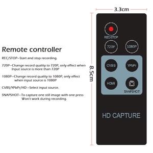 Image 4 - HD וידאו לכידת משחק 1080P HD / YPbPr רכיב מורכב מקליט לתוך USB דיסק SD כרטיס עבור PS3 PS4 DVD נגן ממיר