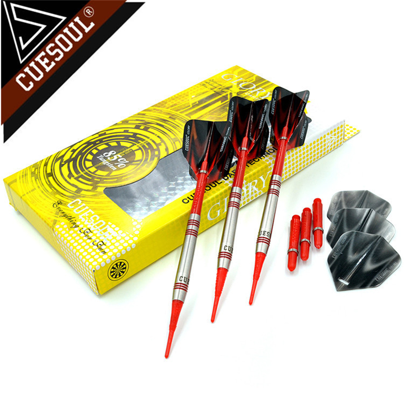 CUESOUL 85% Tungsten Darts 18g 14cm Professional Soft Tip Darts Electronic Darts CSGL-N2205 cuesoul 90% tungsten darts 20g 14cm darts professional game soft tip darts electronic darts nylon shafts